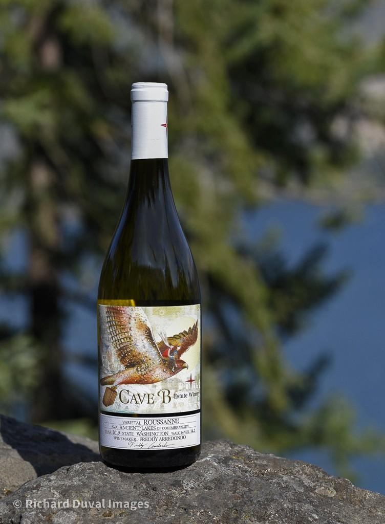 cave b estate winery roussanne 2019 bottle invite - Cave B Estate Winery 2019 Estate Roussanne, Ancient Lakes of Columbia Valley, $27
