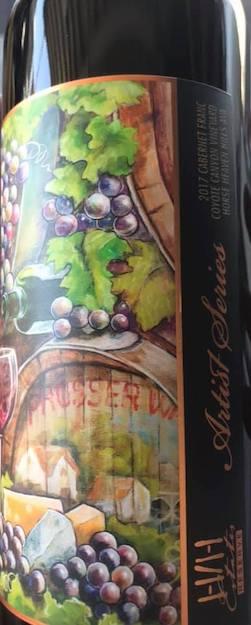 hhestates coyote canyon vineyard artist series cabernet franc 2017 bottle - H/H Estates 2017 Coyote Canyon Vineyard Artist Series Reserve Cabernet Franc, Horse Heaven Hills, $52