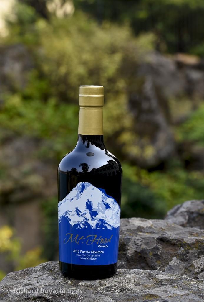 mt hood winery puerto montana pinot noir dessert wine 2012 bottle invite - Mt. Hood Winery 2012 Puerto Montaña Pinot Noir Dessert Wine, Columbia Gorge, $46