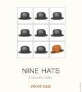 nine hats wines pinot gris nv label 120x134 - Nine Hats Winery 2018 Pinot Gris, Columbia Valley, $14