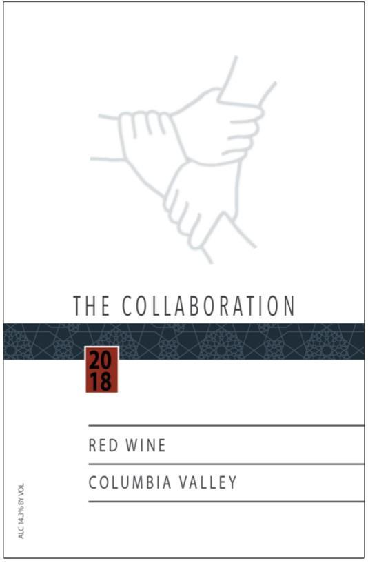 nw wine collaborative the collaboration red wine 2018 label - NW Wine Collaborative 2018 The Collaboration Red Wine, Columbia Valley, $28