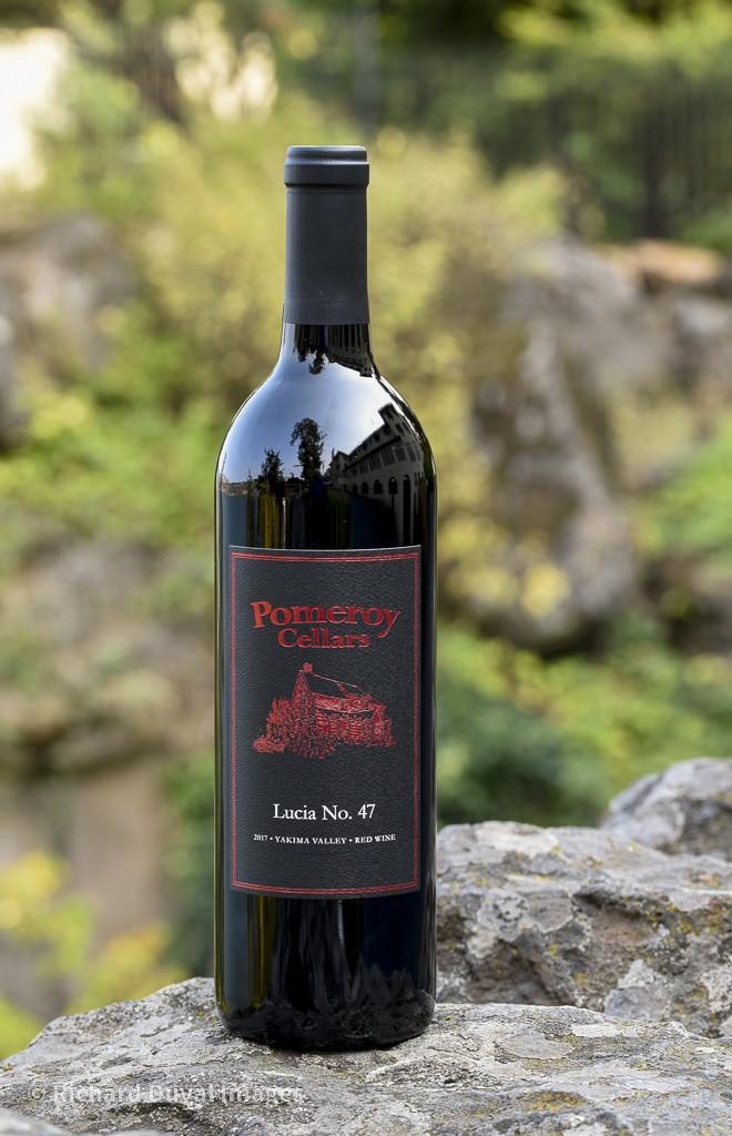 pomeroy cellars lucia no 47 red wine 2017 bottle invite - Pomeroy Cellars 2017 Lucia No. 47 Red Wine, Yakima Valley $43