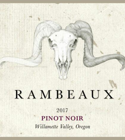 rambeaux pinot noir 2017 label 420x470 - Rambeaux 2017 Pinot Noir, Willamette Valley, $40
