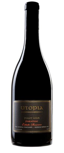 utopia wines estate reserve paradise pinot noir 2017 bottle - Utopia Wines 2017 The Utopia Vineyard Estate Reserve Paradise Pinot Noir, Ribbon Ridge, $65