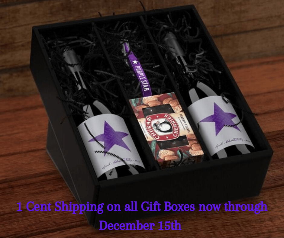 1 Cent Shipping 2 - Purple Star Winery's 1-Cent Shipping on Holiday Gift Boxes