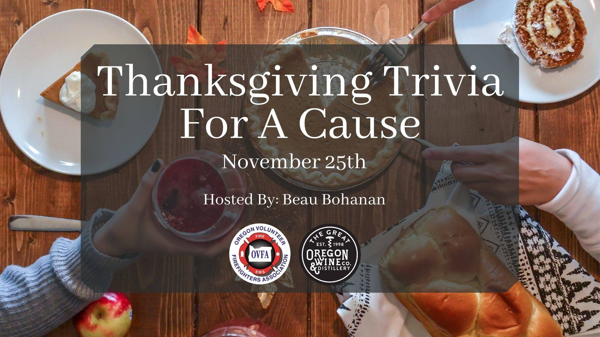 Trivia Pic - Thanksgiving Trivia for a Cause at The Great Oregon Wine Company