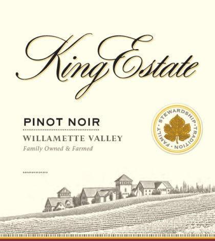 king estate pinot noir nv label 420x470 - King Estate Winery 2018 Pinot Noir, Willamette Valley, $29