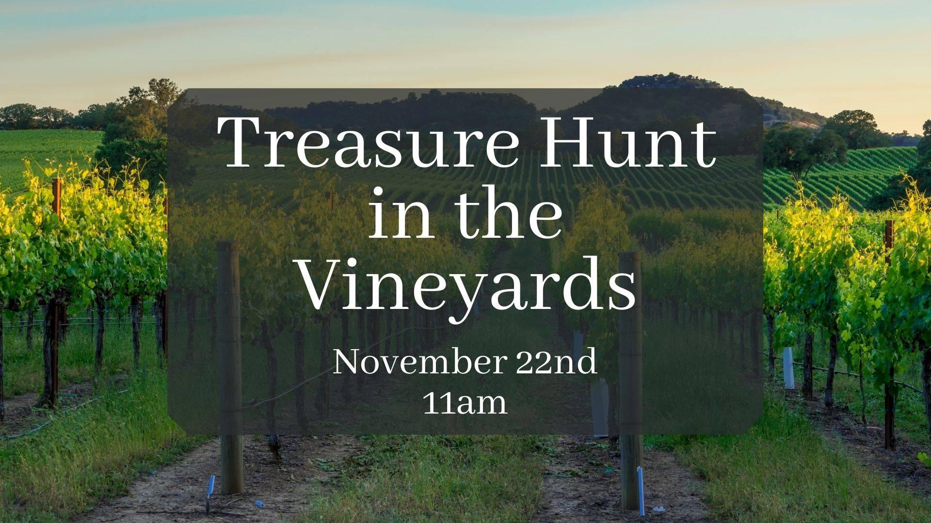 trasure hunt pic - Treasure Hunt in the Vineyard at The Great Oregon Wine Company