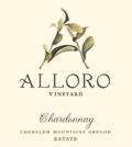 alloro vineyard estate chardonnay nv label 120x134 - Alloro Vineyard 2018 Estate Chardonnay, Chehalem Mountains, $39