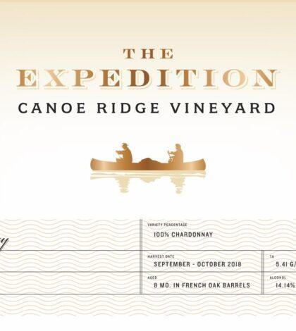 canoe ridge vineyard the expedition chardonnay 2018 label 420x470 - Canoe Ridge Vineyard 2018 The Expedition Chardonnay, Horse Heaven Hills, $15