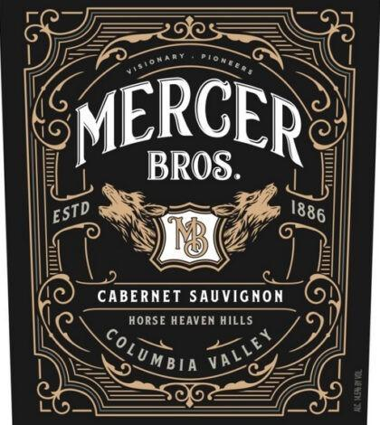 mercer bros cabernet sauvignon nv color label 420x470 - Mercer Bros. 2017 Cabernet Sauvignon, Horse Heaven Hills, $20
