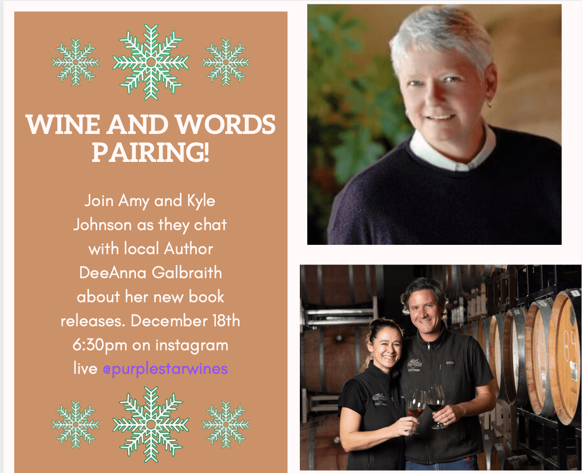 wine and words - Wine and Words Pairing with Purple Star Wines