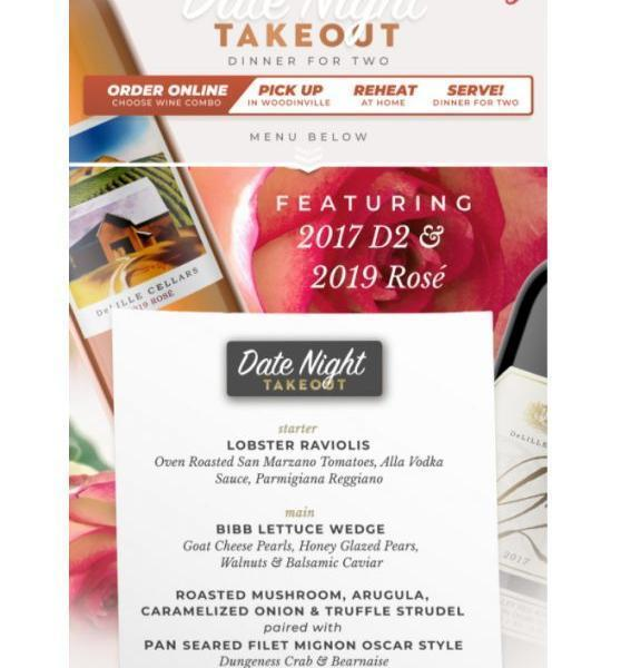 DeLille - DeLille Cellars Date Night Takeout - Valentine's Weekend