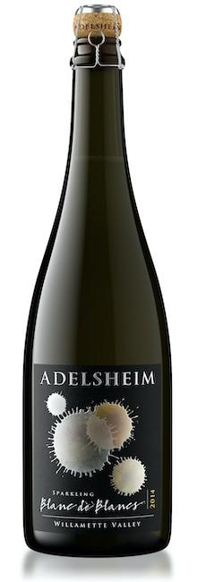 adelsheim vineyard sparkling blanc de blancs 2014 bottle - Adelsheim Vineyard 2014 Sparkling Blanc de Blanc, Willamette Valley, $95