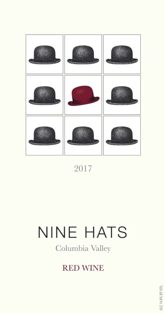 nine hats red wine 2017 label 539x1024 - Nine Hats Wines 2017 Red Wine, Columbia Valley, $20