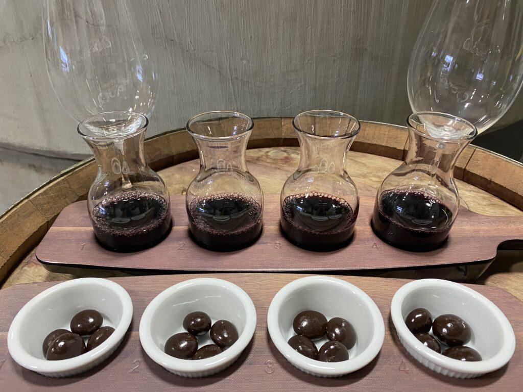 Wine&Chocolate flight