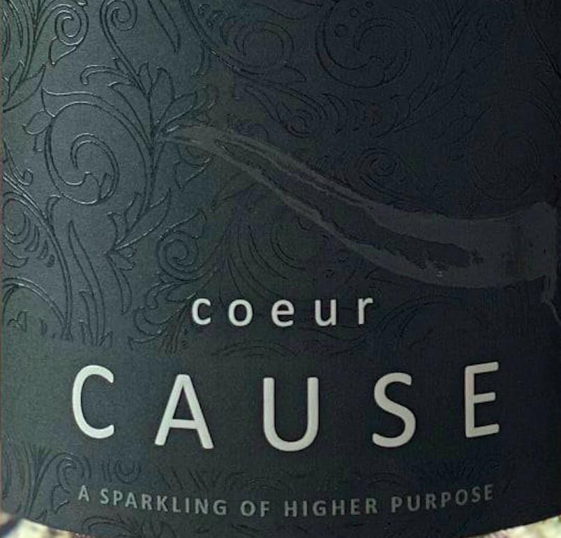 coeur-cause-nv-sparkling-wine-label