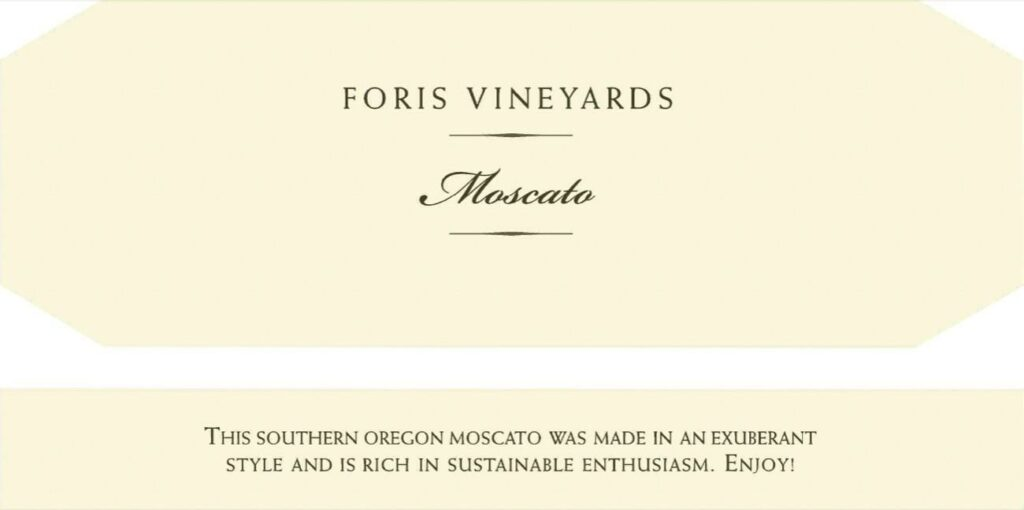 foris-vineyards-moscato-nv-label