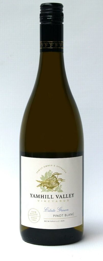 yamhill valley vineyards estate pinot blanc nv bottle 404x1024 - Yamhill Valley Vineyards 2018 Estate Pinot Blanc, McMinnville, $25