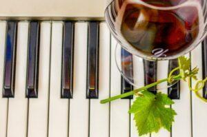 Music keyboard and wine scaled DILToK.tmp  300x199 - Wine Wednesday – Name that Song!