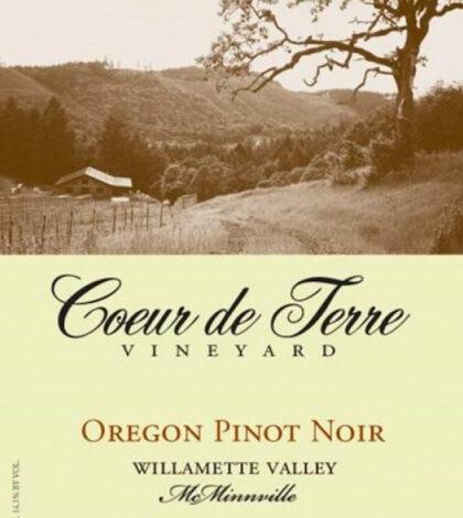 coeur de terre vineyard oregon pinot noir nv label 420x470 - Coeur de Terre Vineyard 2017 Oregon Pinot Noir, Willamette Valley, $22